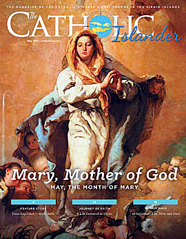 May 2017 cover of the Catholic Islander